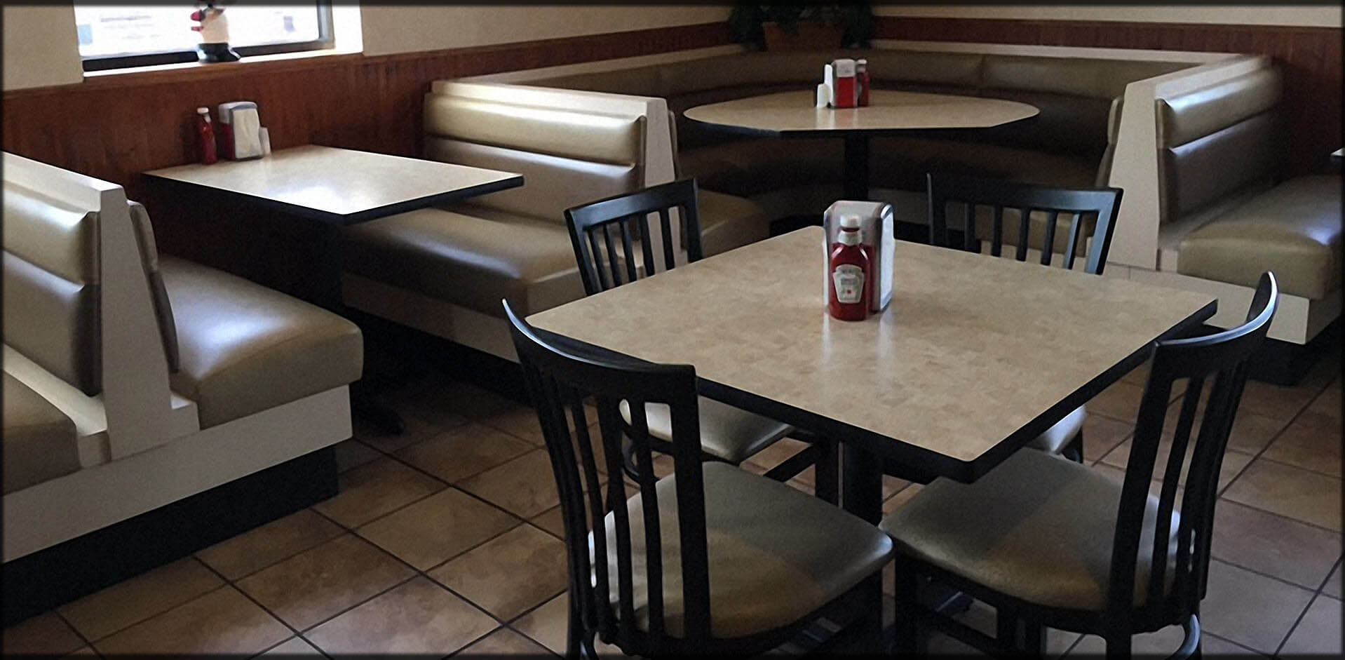 Restaurant Furniture Seating; Commercial Booths, Custom Banquettes