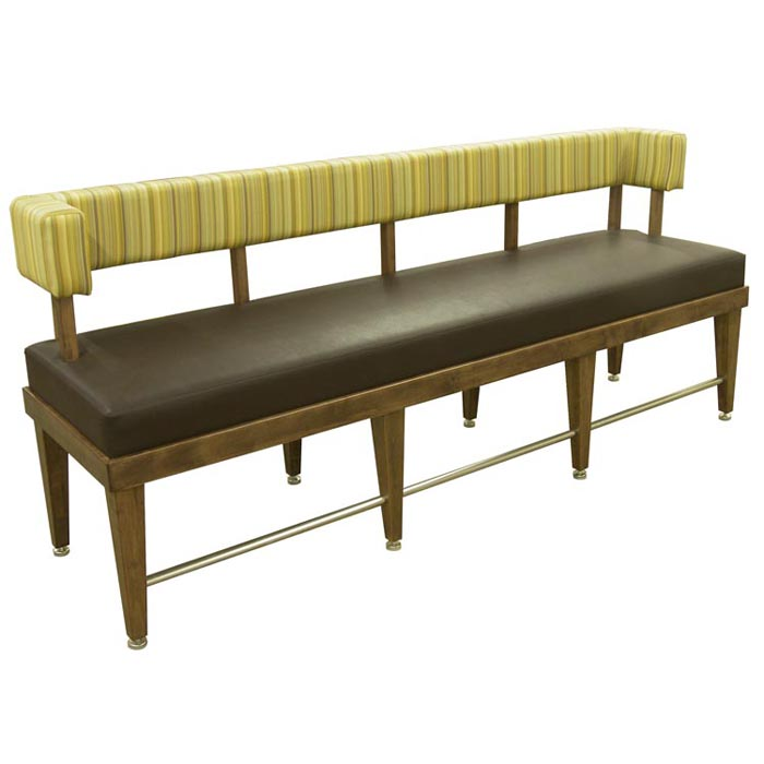 Bar Bench Seating ~ High bar booths tall booth banquette counter height seating