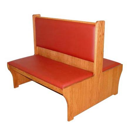 Cushioned Wood Bench Seat With Backrest