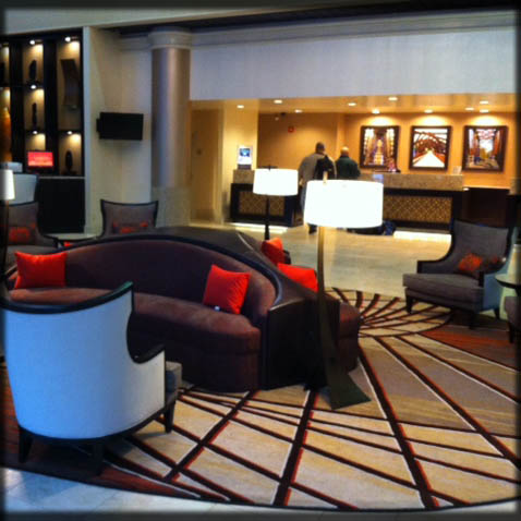 Marriott Hotel Lobby Seating; Chattanooga, Tennessee