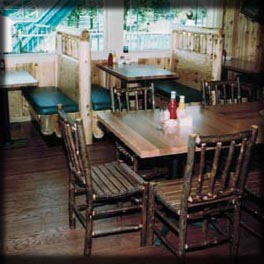 Log Diner Booths & Tables; Darien Lake, New York
