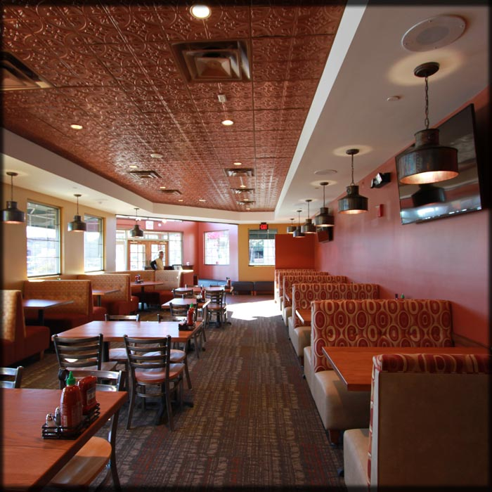 Frisco Taphouse Restaurant Booths; Columbia, Maryland